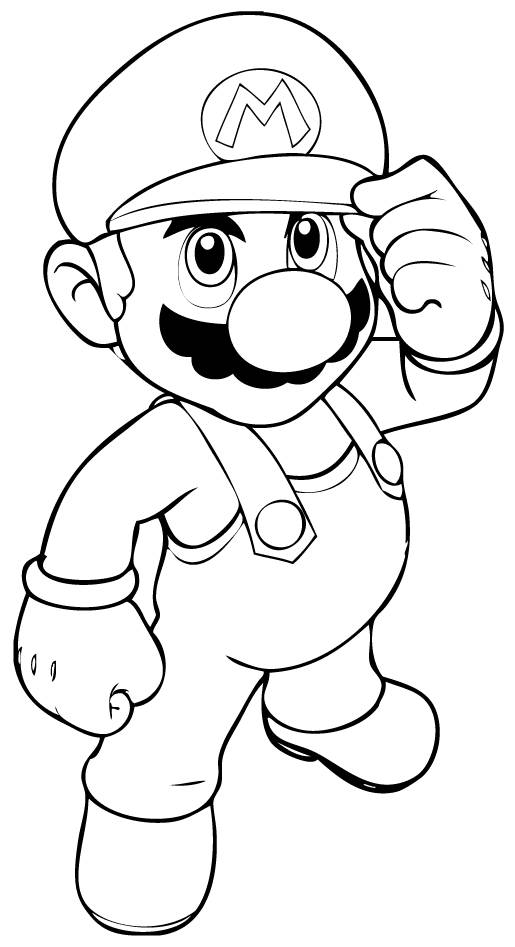 Free coloring and drawings Super Mario Video Games free Coloring page