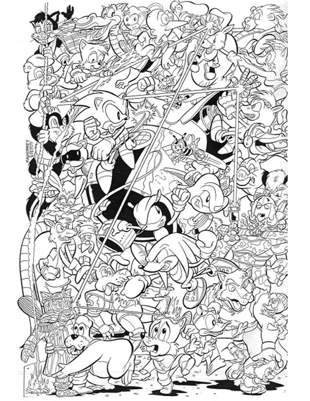 Free coloring and drawings Video Game Characters Coloring page
