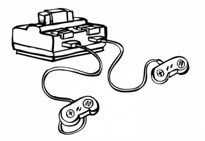 Free coloring and drawings Video games console Coloring page