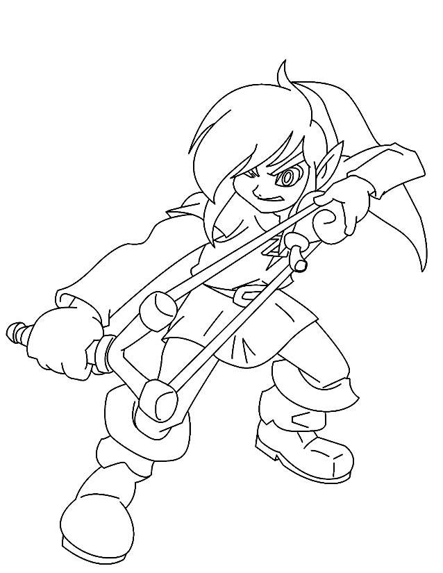 Free coloring and drawings video games Magic character Coloring page