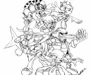Coloring pages video games Poster