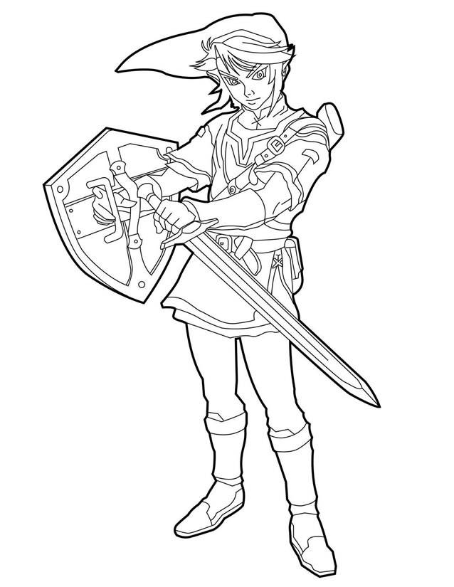 Free coloring and drawings video games Zelda Coloring page