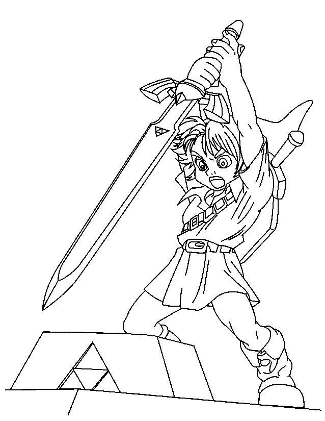 Free coloring and drawings Zelda Character Games Coloring page