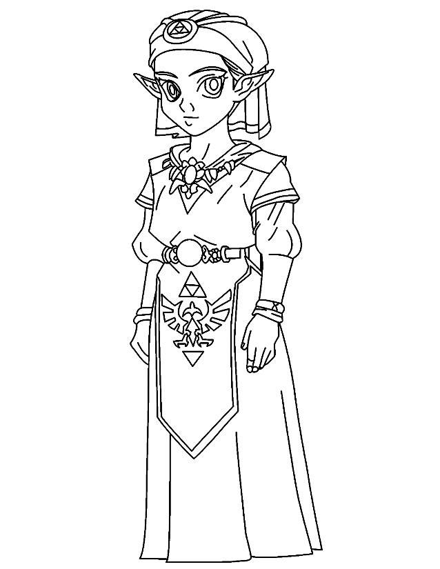 Free coloring and drawings Zelda video games for girls Coloring page