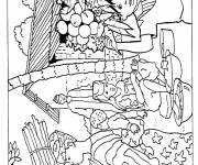 Coloring pages An african village