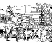 Coloring pages Architecture in China