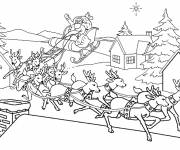 Coloring pages Christmas Village