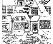 Coloring pages Christmas Village online