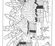 Coloring pages Village in Africa