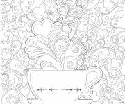 Coloring pages Anti-stress mug for adults