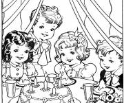 Coloring pages Vintage Anniversary