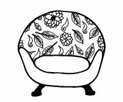 Coloring pages Vintage armchair
