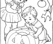 Coloring pages Vintage Childhood and Halloween