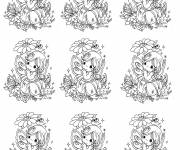 Coloring pages Vintage cute girl