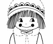 Coloring pages Vintage Girl 8 years old