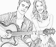 Coloring pages Violetta and Castillo