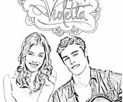 Coloring pages Violetta and Leon