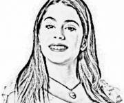 Coloring pages Violetta for Girls