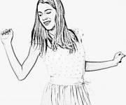 Coloring pages Violetta for teens