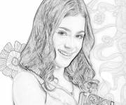 Coloring pages Violetta in pencil