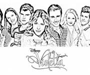 Coloring pages Violetta Series Poster