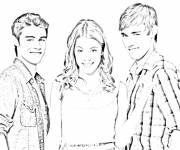 Coloring pages Violetta Tomas and Leon