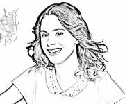 Coloring pages Violetta with Magnificent Voice