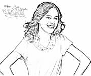 Coloring pages Violetta Young Girl
