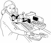 Free coloring and drawings A cashier Coloring page