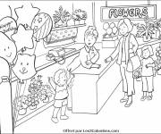 Coloring pages A Colored Florist