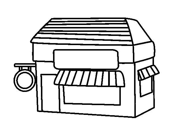 Free coloring and drawings An Easy Store Coloring page