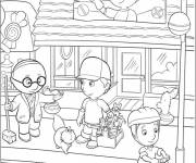 Free coloring and drawings Cartoon Store Coloring page