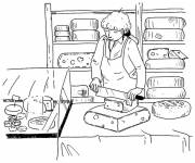 Coloring pages Cheese shop