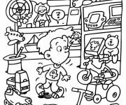 Coloring pages Child in the Toy Store