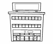 Coloring pages Easy shopping center