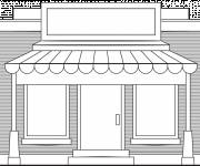Coloring pages Front of Online Store