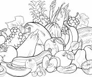 Coloring pages Fruit Store