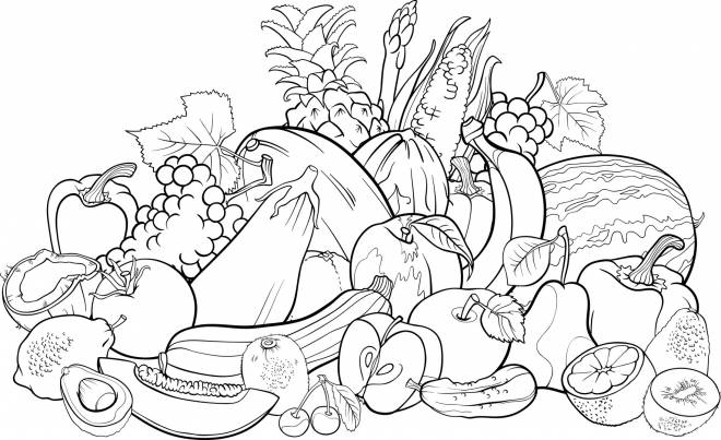 Free coloring and drawings Fruit Store Coloring page