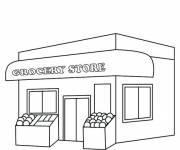 Coloring pages Nursery store