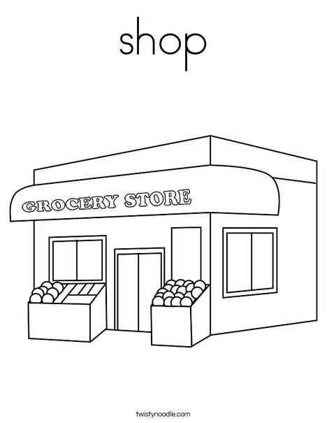 Free coloring and drawings Nursery store Coloring page