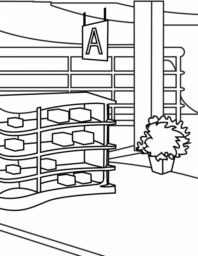 Free coloring and drawings Online shop Coloring page