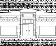 Coloring pages Original Store Front