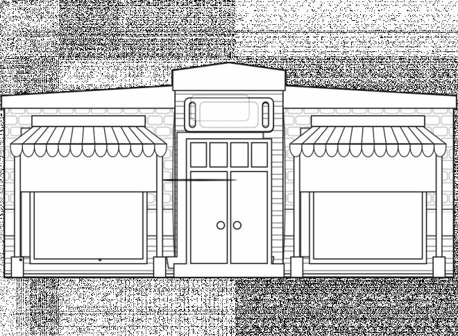 Free coloring and drawings Original Store Front Coloring page