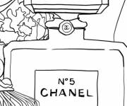 Coloring pages Perfume Store