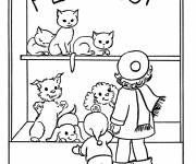 Free coloring and drawings Pet store Coloring page