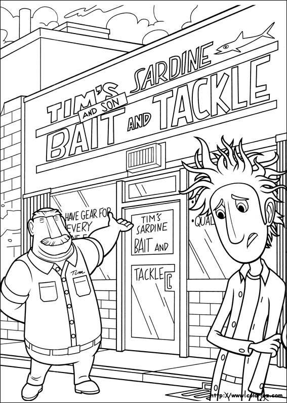 Free coloring and drawings Sardine store Coloring page
