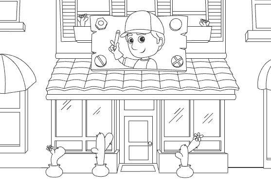 Free coloring and drawings Store Front Coloring page