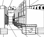 Coloring pages Store shelves