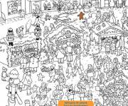 Coloring pages Stores and Customers