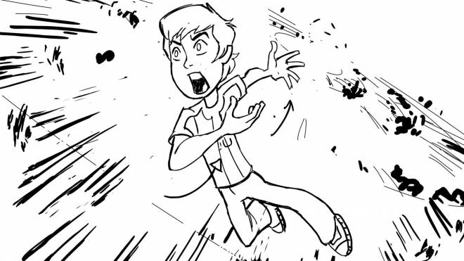 Free coloring and drawings The Angry Boy Coloring page